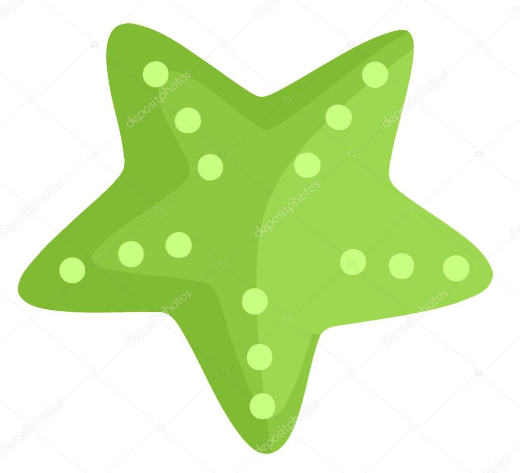 1023x930 Starfish Clipart Green