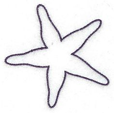 236x234 Starfish Outline Smallltbrgt 2.85w X 2.87h, John Deer's Adorable