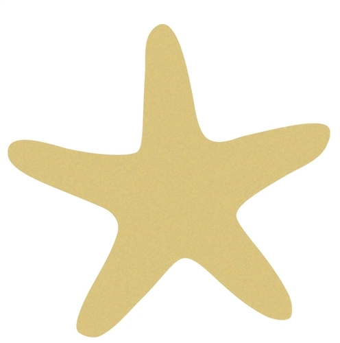 496x500 Star Fish Unfinished Cutout, Wooden Shape, Paintable Wooden Mdf