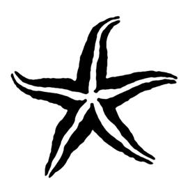 270x270 Starfish Stencil 02 Tilly's Mermaid Room Starfish