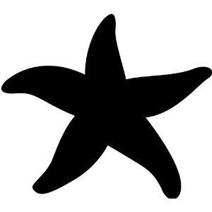 300x300 Starfish Silhouette Cricut Starfish, Silhouettes