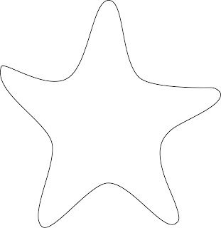 image about Star Printable Cutouts named Starfish Reduce Outs Totally free obtain excellent Starfish Lower Outs upon