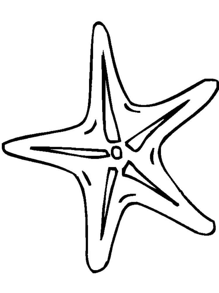 750x1000 Starfish Coloring Pages. Download And Print Starfish Coloring Pages.