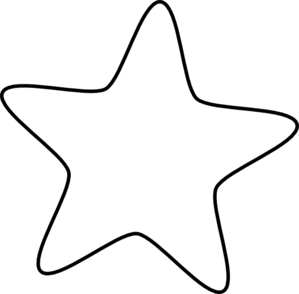 Star outline. Starfish free download best
