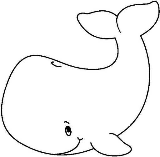 512x502 whale pattern use the printable outline for crafts creating - Whale Outline