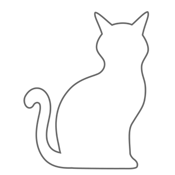 345x345 Cat Stencil For Pillows Livingroom Stenciling