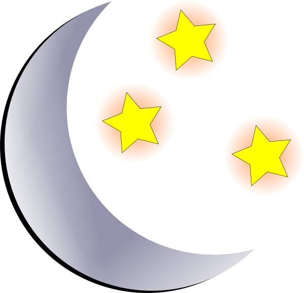 600x577 Moon And Stars Clip Art
