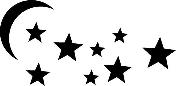 570x279 Moon And Stars Vector Clipart