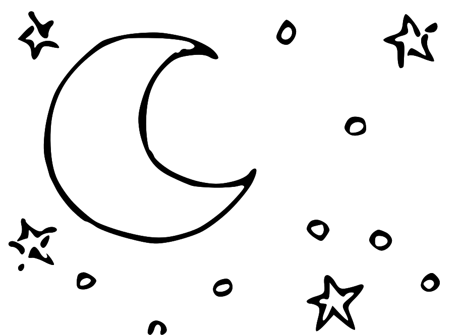918x665 Moon Black And White Moon And Stars Black White Clipart