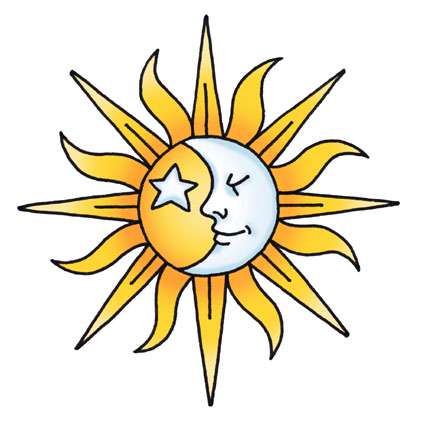 425x425 Sun And Moon Clipart