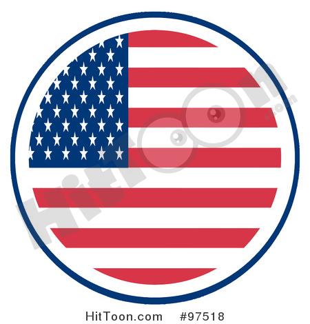450x470 American Flag Clipart