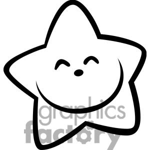 300x300 Drawn star black and white
