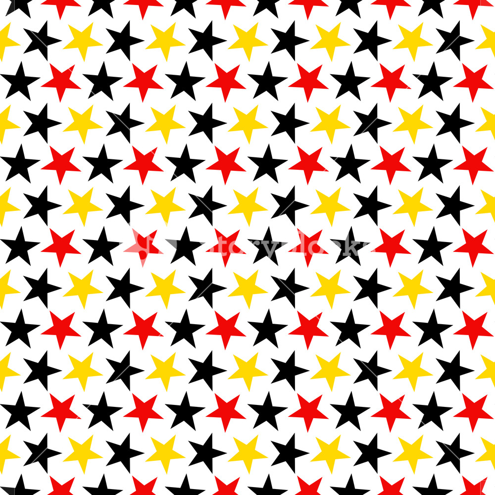 1000x1000 Mickey Mouse Pattern Of Red, Black, And Yellow Stars On A White