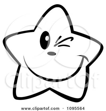 450x470 Royalty Free (RF) Clipart of Black And White Stars, Illustrations