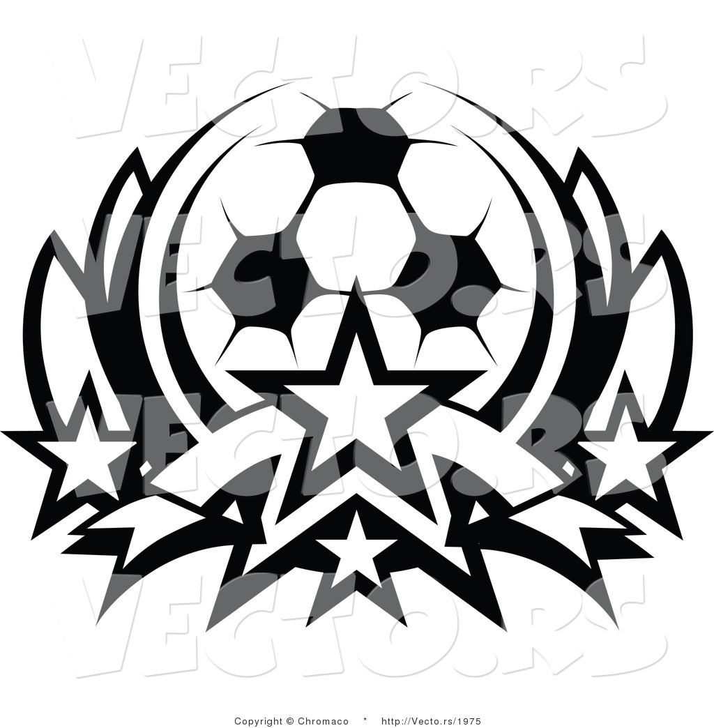 1024x1044 Vector of a Soccer Ball with Stars