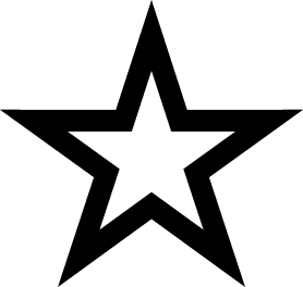 278x264 bitch stars black white Clipart Panda