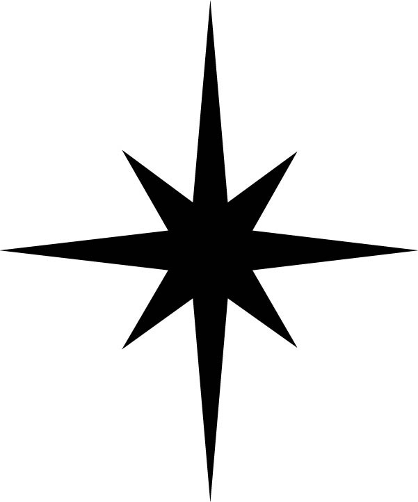 601x722 Christmas Star Black And White Clipart