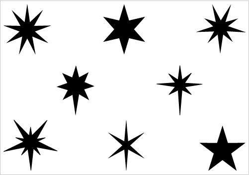 Stars Black And White Clipart