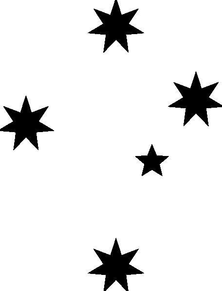 456x597 Free Black Stars Clipart Image