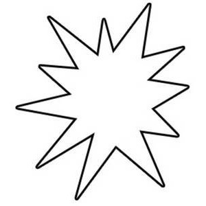 300x300 Free Star Clipart Black And White Image