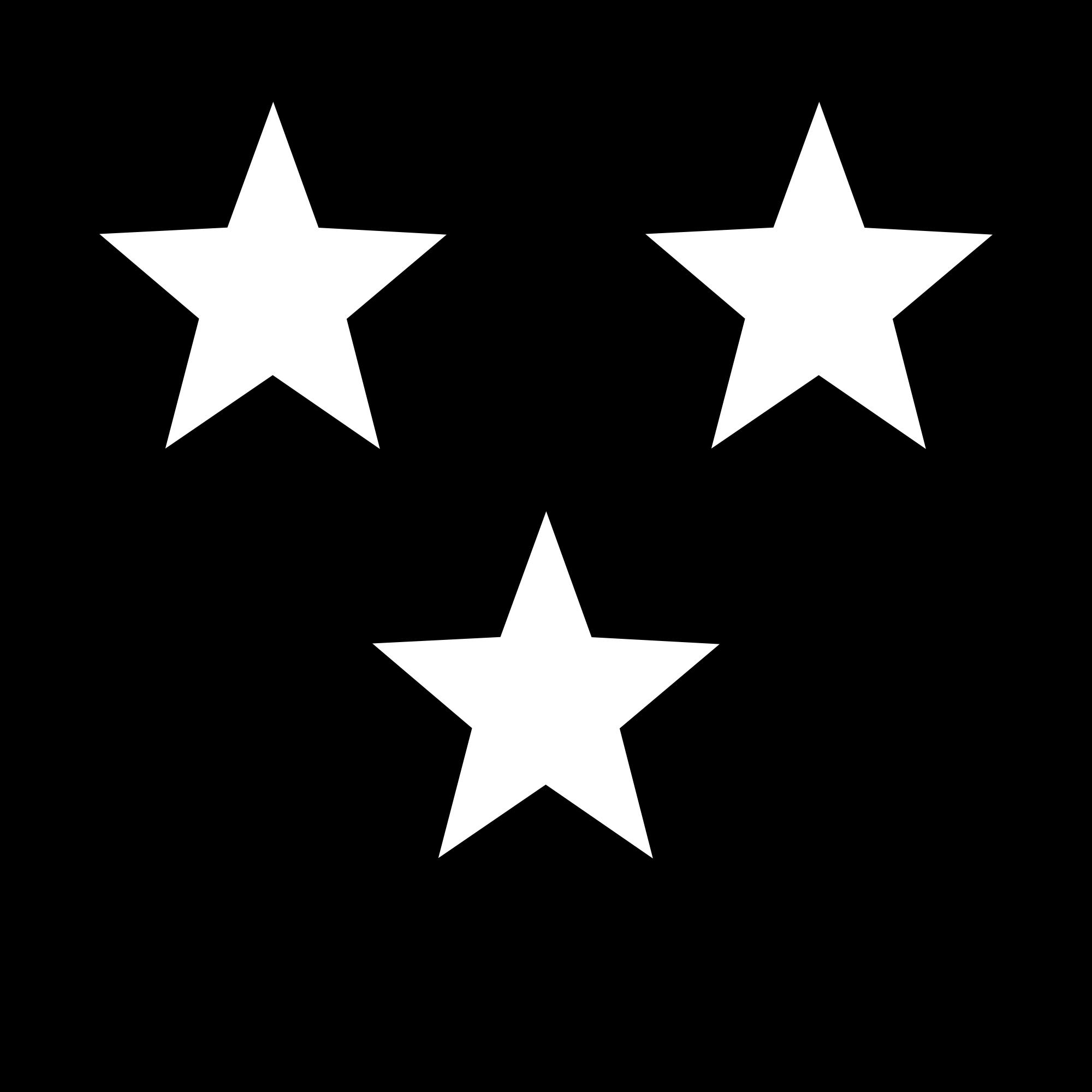 2000x2000 White Stars