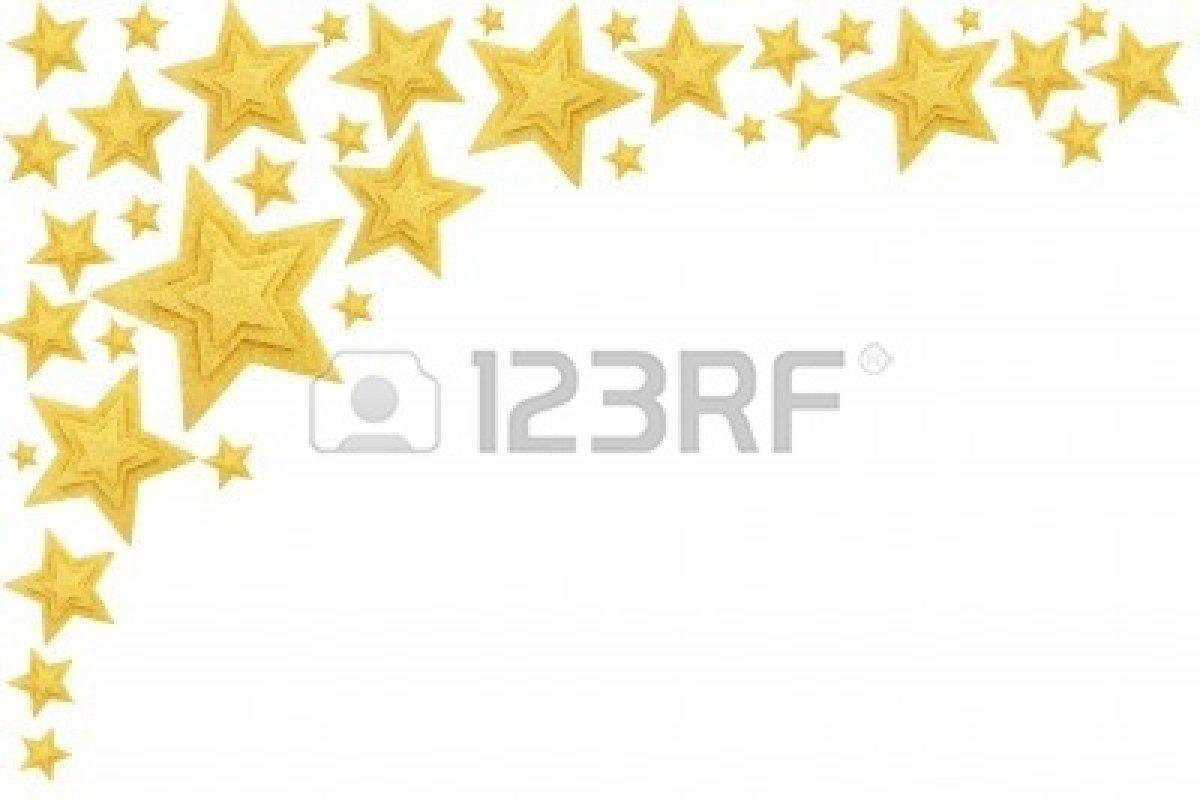 1200x801 Gold Christmas Star Border Clipart