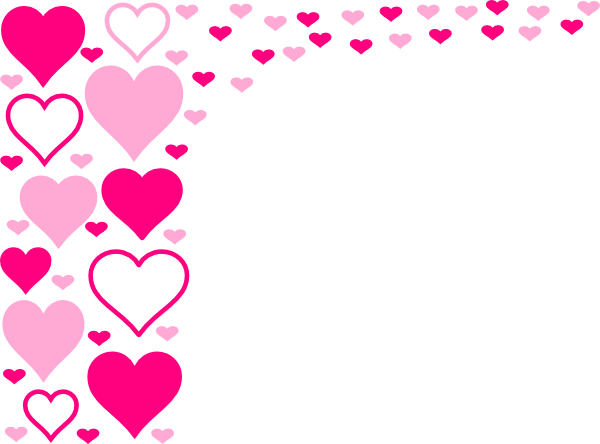 600x444 Hearts And Pink Stars Border Free Borders And Clip Art