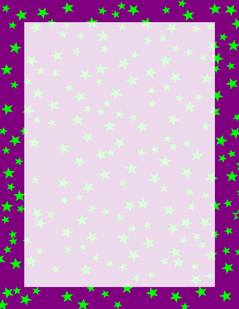 765x990 Purple and Green Stars Border Free Borders And Clip