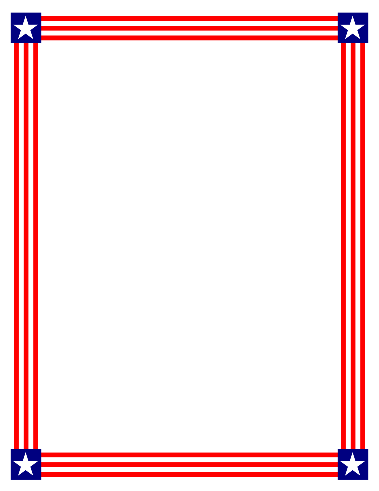 765x990 Red, Blue, and White Stars Border Free Borders And Clip