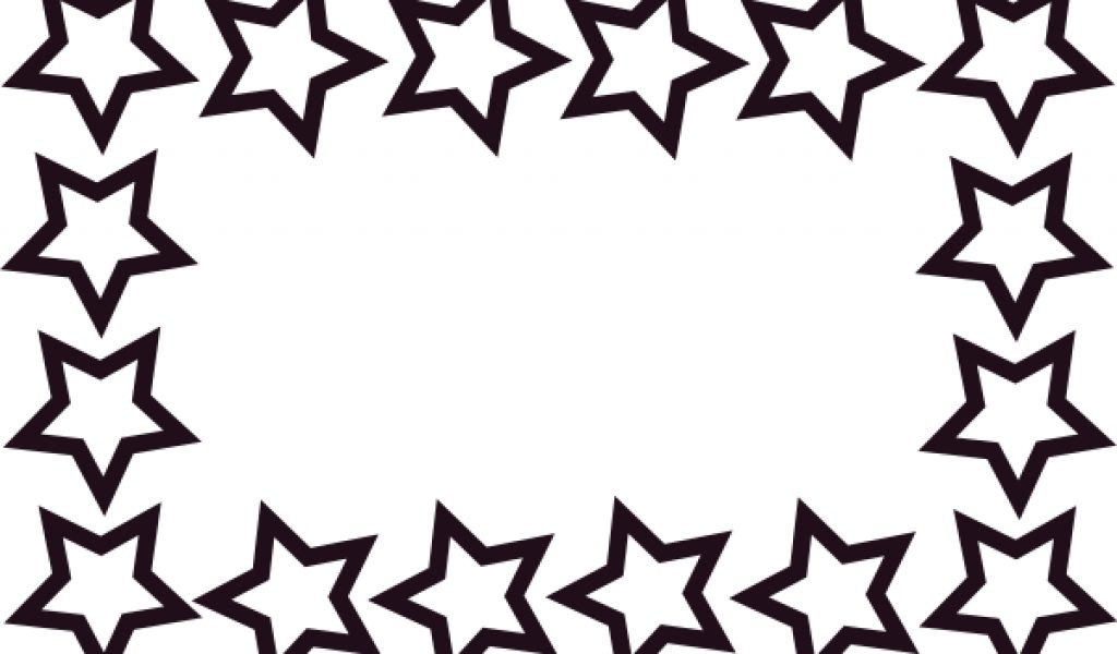 1024x600 Black stars clipart border collection