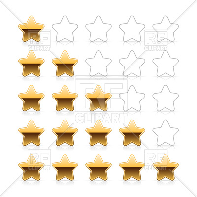 400x400 Line of golden stars