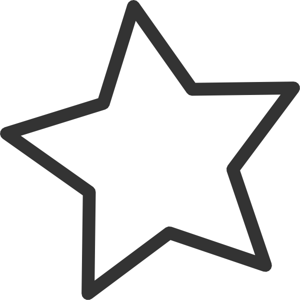 600x600 Red Star Clip Art
