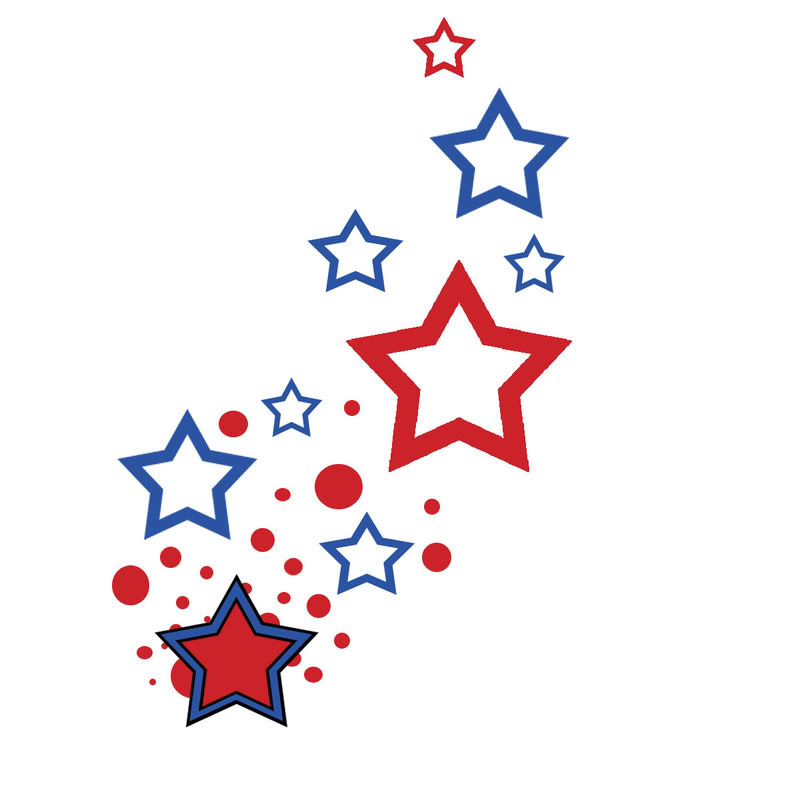 800x800 Red And White Stars Clip Art Cliparts