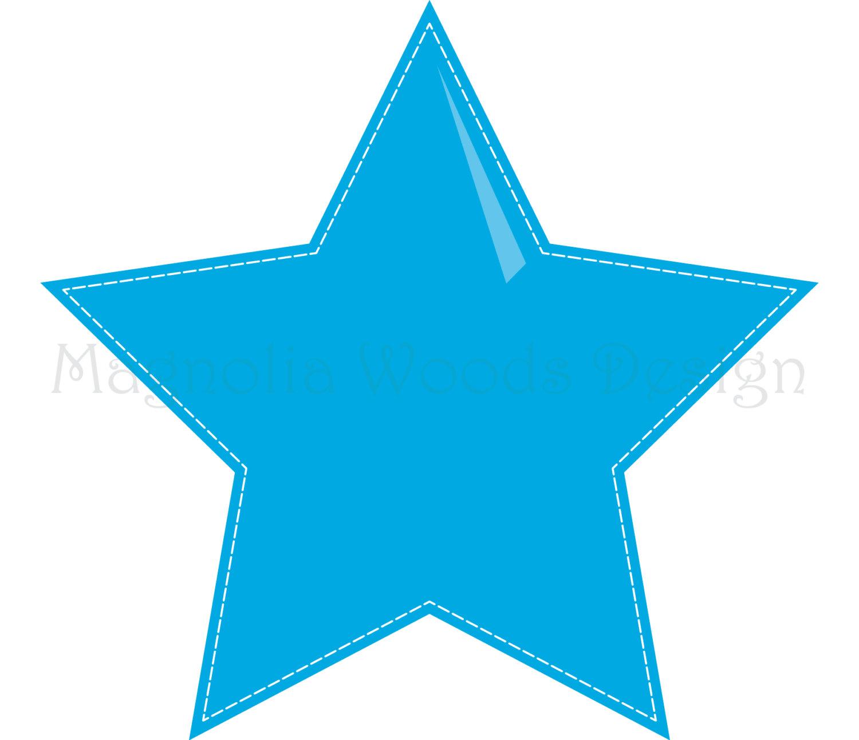 1500x1292 Star Clip Art, Stitched Stars Clip Art, Rainbow Star Clip Art