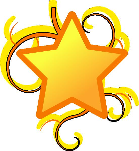 552x600 Star Swirl Clip Art