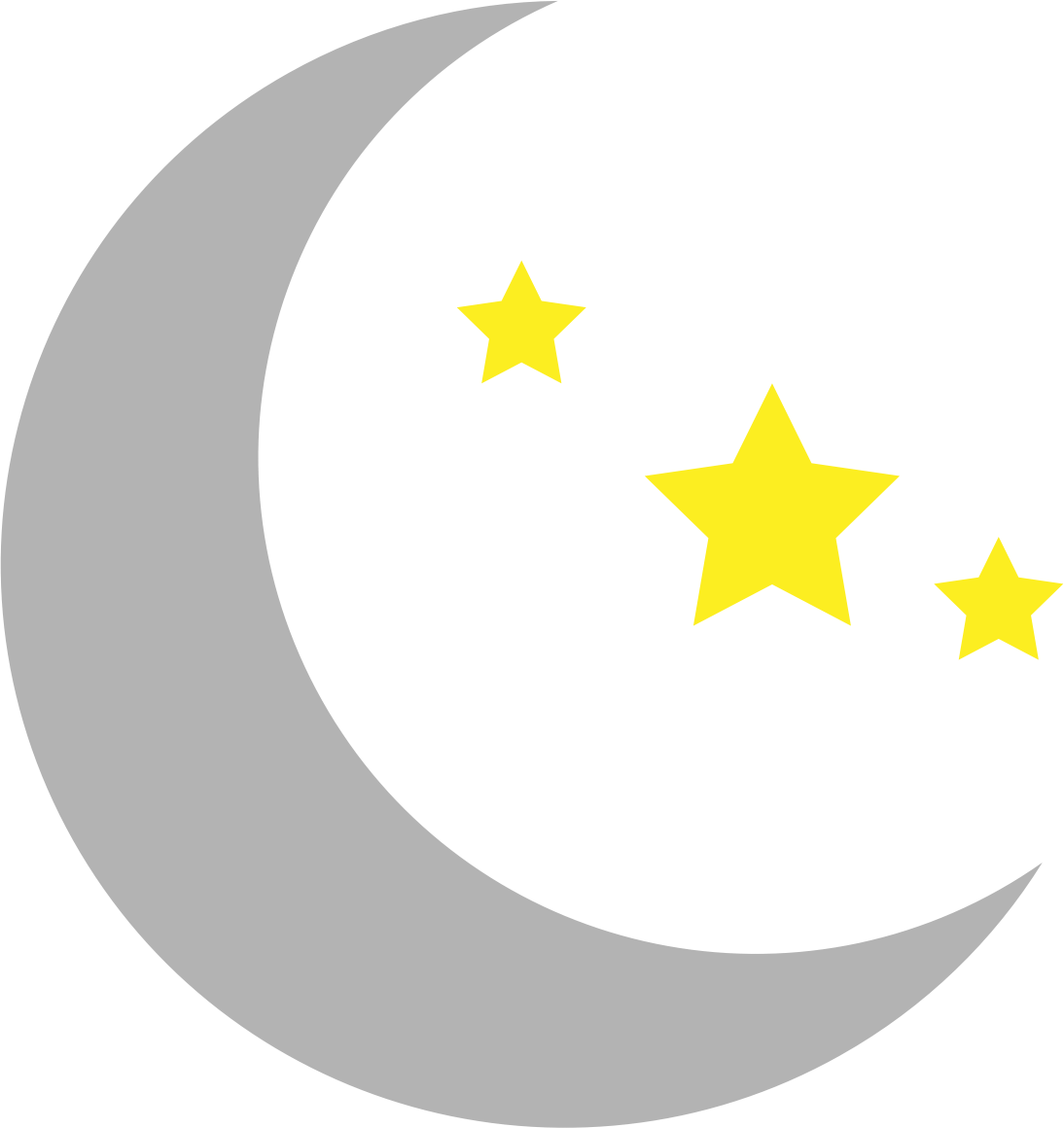 1094x1160 Clipart Moon And Stars