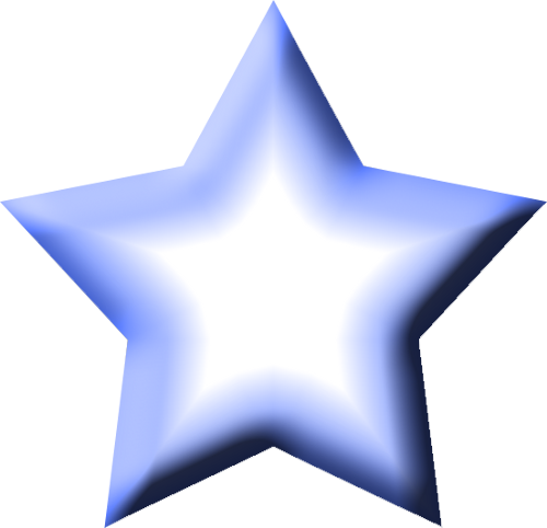 500x482 Blue Star Clip Art