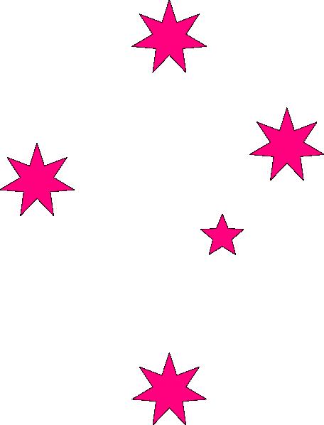 456x598 Pink Stars Clip Art