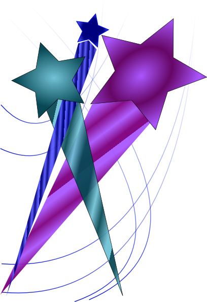 408x595 Shooting Stars Clip Art