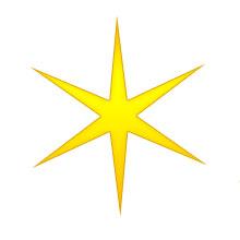 220x220 Christmas Star Clip Art