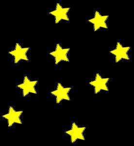 276x300 Yellow Stars Clip Art