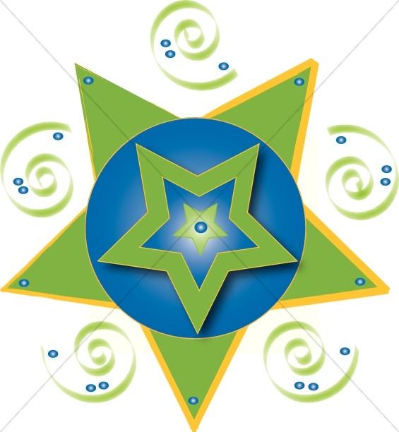 565x612 star clip art