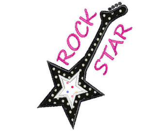 340x270 Rock Star Clipart Black And White
