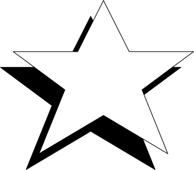 400x352 Black And White Star Clip Art