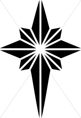 266x388 Star Of Bethlehem Black And White Clipart