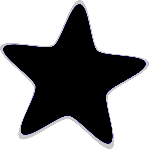 594x595 Star Black And White Large Star Clip Art Black And White Pics