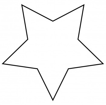 350x348 Stars Clipart Black And White