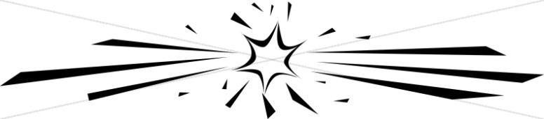776x171 Star Clipart Black And White