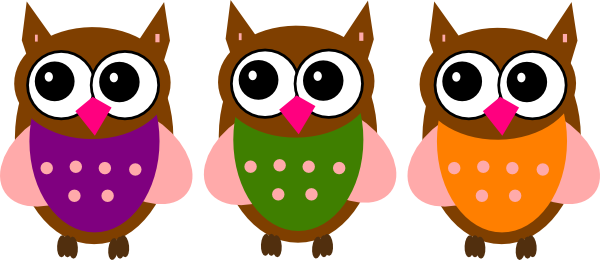 600x260 Pink Owl Clip Art