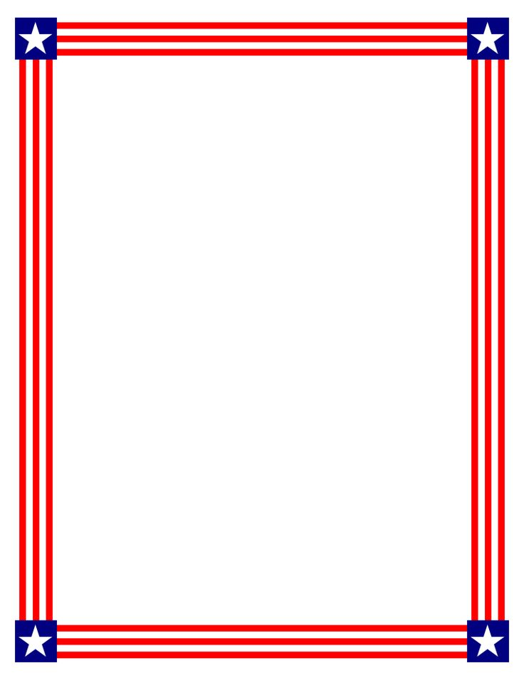 736x952 Red White And Blue Border Clip Art